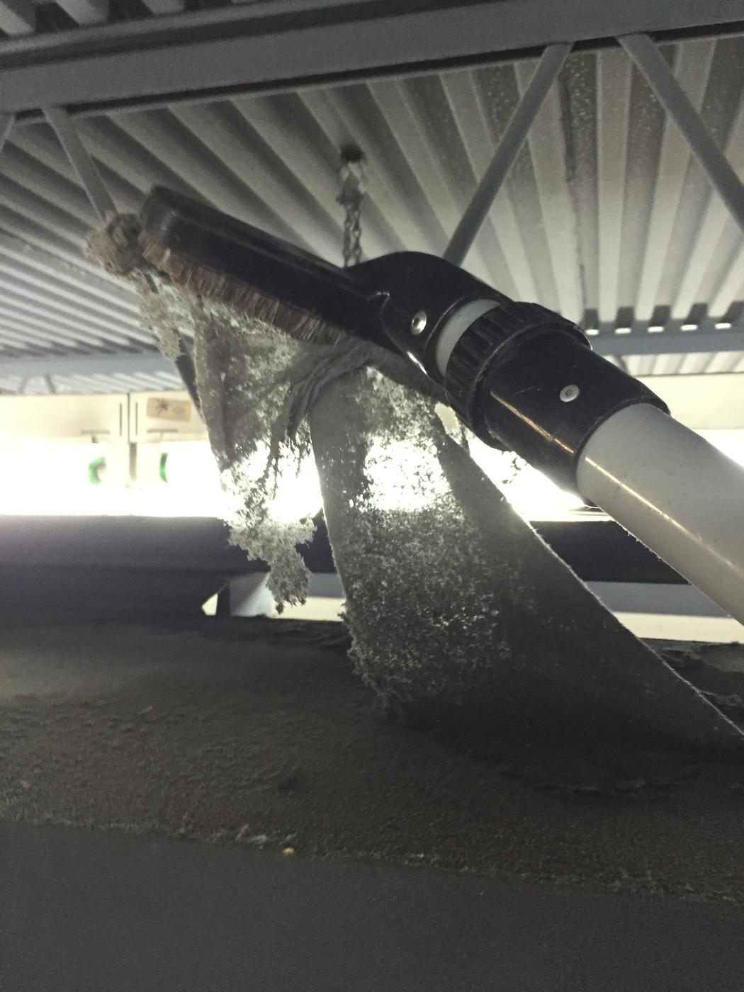 mold growth and dust accumulating in the air ducts of a Miramar, FL building