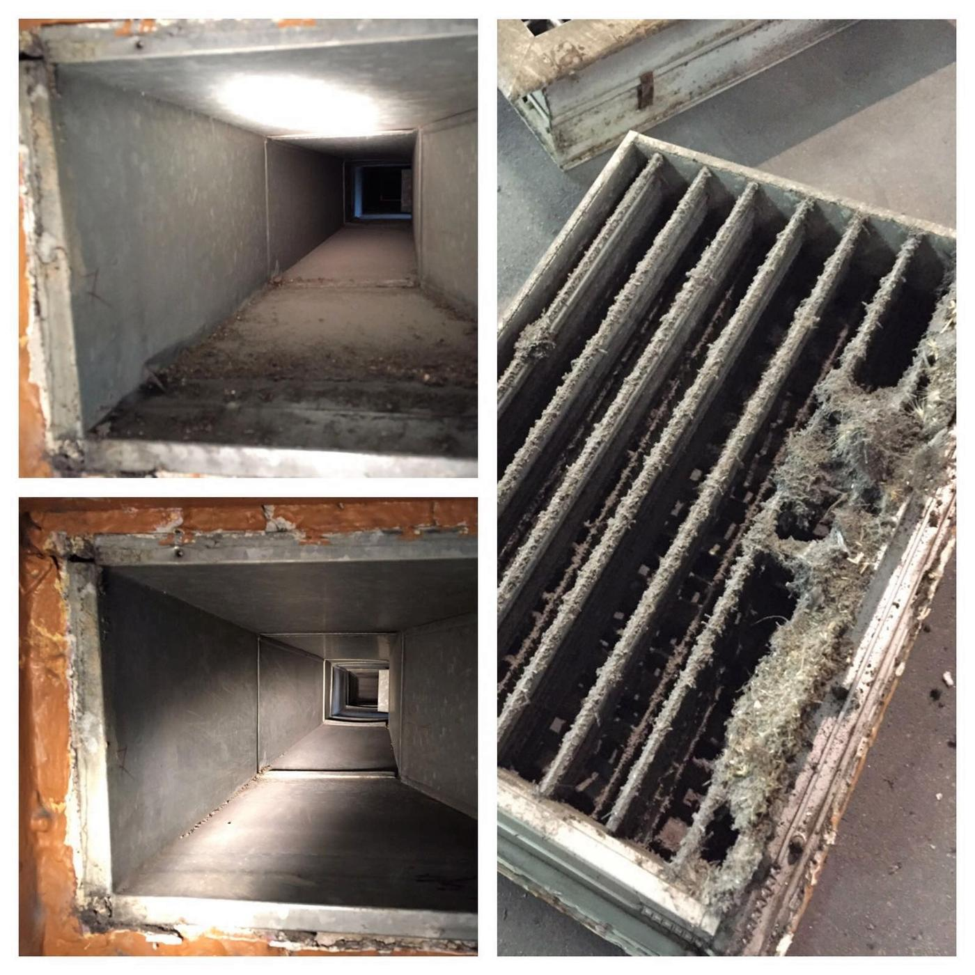 mold removal off the air ducts that people were breathing in in Miramar, FL