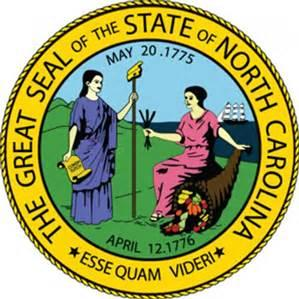 Great Seal of the state of North Carolina logo