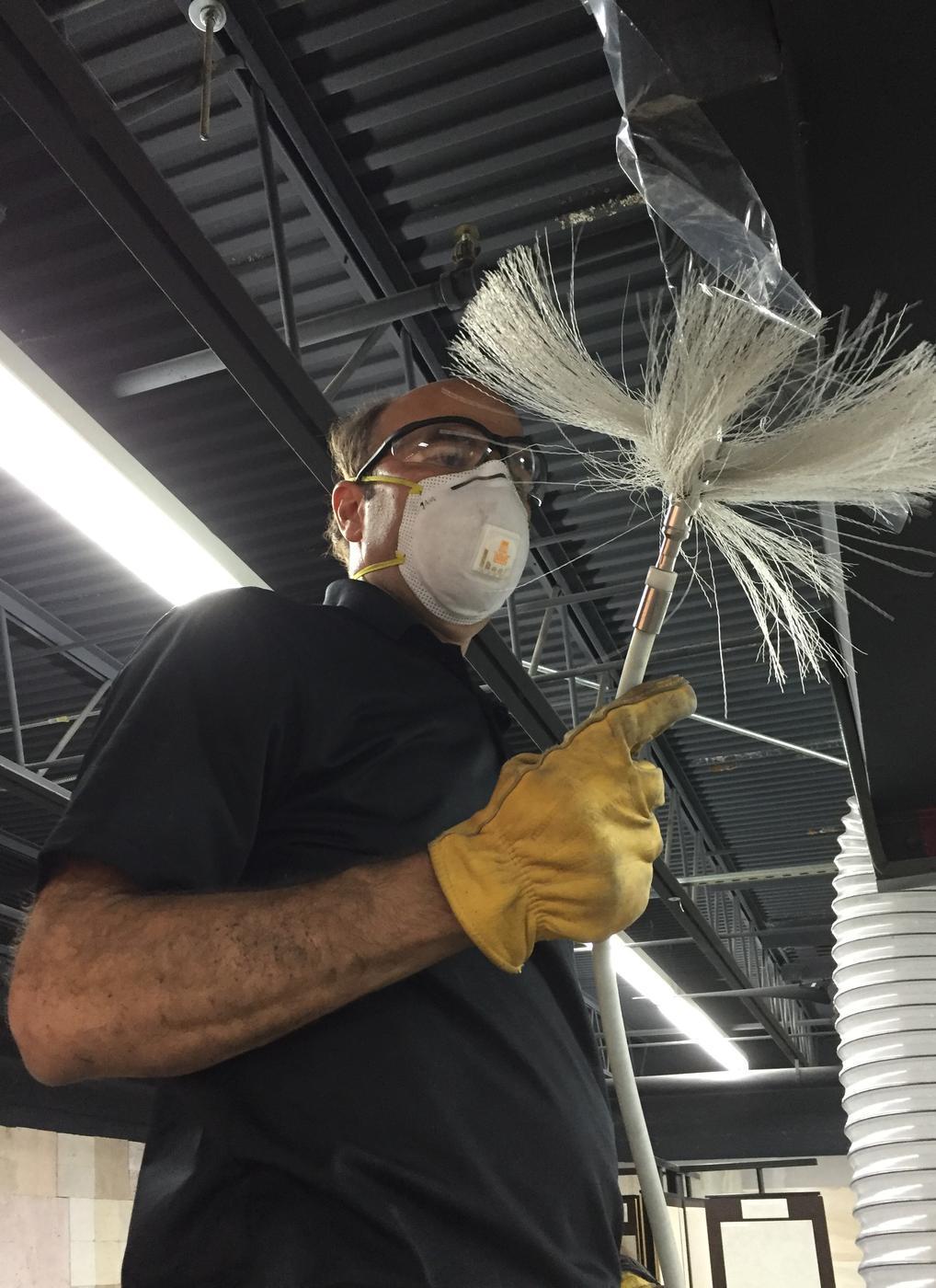 air duct cleaning brush